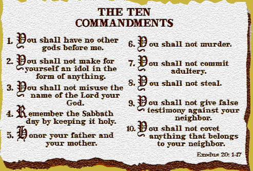 Christianity & Judaism: God's Ten Commandments