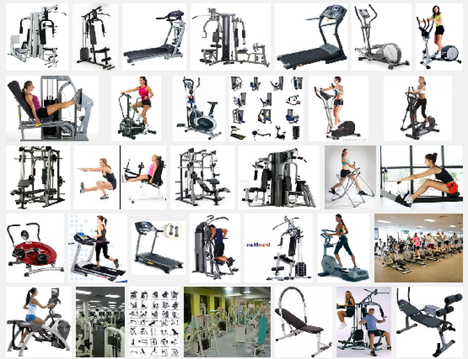 Exercise including Equipment, and a List of Equipment Manufacturers