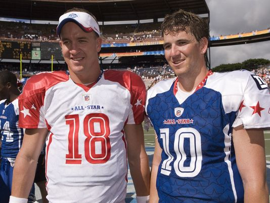 Eli Manning and Peyton Manning: former NFL Star Quarterbacks and Brothers