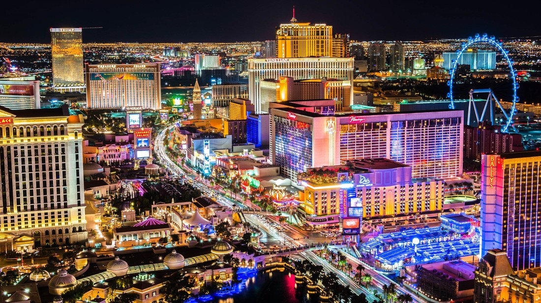Resort Capitals of the United States, featuring Las Vegas and its Las Vegas Strip