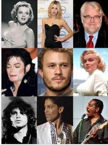 Celebrities who died due to a Drug or Alcohol Overdose