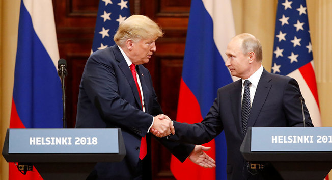 Trump and Putin at Helsinki 7-16-18